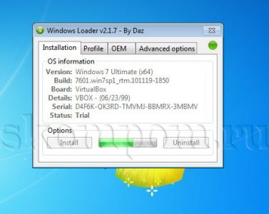Процесс активации Windows