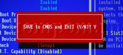 Save to CMOS and Exit